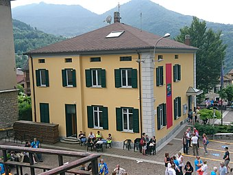 Town Hall of Esino Lario during Wikimania 2016.jpg