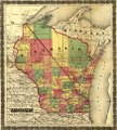 Township map of Wisconsin showing The Milwaukee & Horicon Rail Road and its connections. LOC 98688714.tif