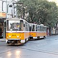 Tram in Sofia near Palace of Justice 2012 PD 003.jpg