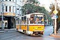 Tram in Sofia near Palace of Justice 2012 PD 006.jpg