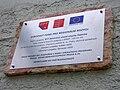 Tramvajová zastávka Třebenická, pamětní deska.jpg