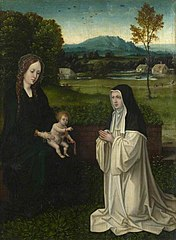 The Virgin and Child with a Cistercian (?) Nun