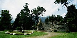 The public gardens of Tremezzo