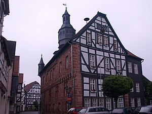 Schwalmstadt - Town hall in Treysa, south-east side