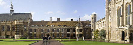 The Great Court of Trinity College, Cambridge, present day