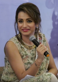Trisha at World Children's Day Press Meet 2017