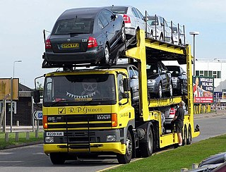 Car carrier trailer An automobile which hauls other automobiles