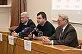Trunin, Novoselov, Samarskiy at press conference 3.jpg