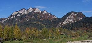 Pieniny - Image: Trzy Korony i Facimiech a 1