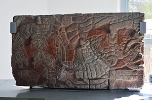 Tula de Allende - Image of Toltec ruler in relief from the Tula archeological site
