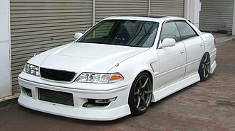 Car tuning - A tuned Toyota Mark II.