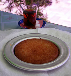 Kanafeh - Turkish künefe and Turkish tea