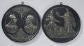 Två medaljonger, Karl XV av Sverige-Norge - Livrustkammaren - 73796.tif