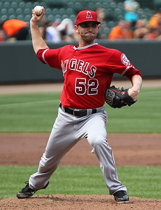Tyler Chatwood - Chatwood pitching for the Los Angeles Angels of Anaheim in 2011