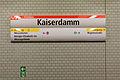 U-Bahnhof Kaiserdamm, Stationsschild 20141110 32.jpg