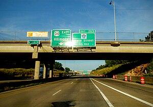 U.S. Route 34 in Iowa - The US 34 freeway in Burlington