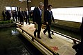 U.S. Secretary of Defense Chuck Hagel, left foreground, walks to a press conference with Japanese Minister of Defense Itsunori Onodera, right foreground, in Tokyo Oct. 3, 2013 131003-D-BW835-1721.jpg