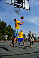 U.S. Soldiers with the 5th Battalion, 7th Air Defense Artillery Regiment and Israeli soldiers compete in a basketball game during a field competition as part of Austere Challenge 2012 in Hazor, Israel 121101-F-QW942-549.jpg