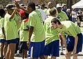 U.S. Special Olympic athletes celebrate, after a race, at the Special Olympics, at Fort Gordon, Ga., Mar 100324-A-NF756-006.jpg