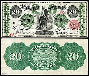 United States twenty-dollar bill - 1863 $20 Legal Tender note