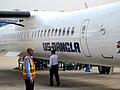US-Bangla Airlines aircraft at Jessore Airport (01).jpg
