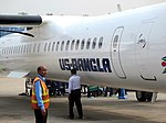 US-Bangla Airlines aircraft at Jessore Airport (01).jpg