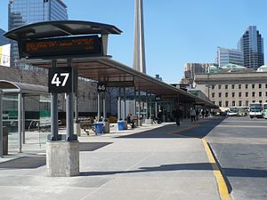 Union Station Bus Terminal - View of bus platforms
