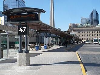 Union Station Bus Terminal - View of bus platforms