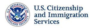 The logo of U.S. Citizenship and Immigration S...
