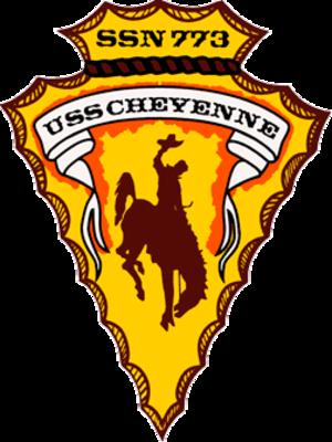USS Cheyenne (SSN-773) - Image: USS Cheyenne SSN 773 Crest