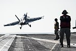 USS George H.W. Bush conducts flight operations. (32498765834).jpg