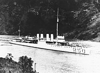 USS Lawrence (DD-250) in the Panama Canal, during the 1920s or 1930s (NH 51263).jpg