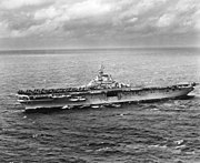 USS Leyte (CV-32) underway at sea on 20 November 1948