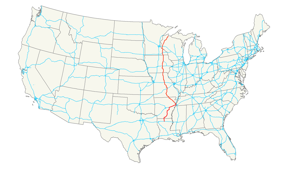 Iowa Map With Highways.U S Route 63 Wikipedia