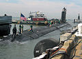 US Navy 041018-N-2820Z-003 The Navy's newest attack submarine, PCU Virginia (SSN 774), pulls into port at Naval Station Norfolk, Va., in preparation for her commissioning on October 23, 2004.jpg
