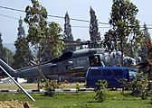US Navy 050107-N-0057P-016 An SH-60B Seahawk helicopter lands at an airfield near Aceh, Sumatra, Indonesia to take-on purified water and relief supplies to be distributed to nearby villages.jpg