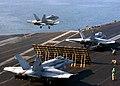 US Navy 050115-N-2984R-062 An F-A-18A- Hornet takes off aboard USS Harry S. Truman (CVN 75).jpg