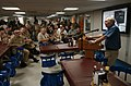 US Navy 050203-N-8796S-106 U.S. Ambassador to Indonesia, the Honorable Lynn Pascoe, speaks to the crew of the Military Sealift Command (MSC) hospital ship USNS Mercy (T-AH 19) during an official visit.jpg