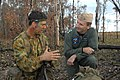 US Navy 050619-N-2468S-003 Commander, U.S. Seventh Fleet, Vice Adm. Jonathan W. Greenert, talks to an Australian Solider from the 3rd Battalion, Royal Australian Regiment, at Shoalwater Bay.jpg