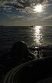 US Navy 050628-N-9866B-052 U.S. Marine Corps Lance Cpl. Joseph Westby, assigned to the 3rd Amphibious Assault Battalion, drives an amphibious assault vehicle through the Pacific Ocean.jpg