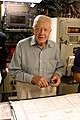 US Navy 050811-N-0653J-006 Former President Jimmy Carter looks over the navigation table in the control room of his namesake ship, the Sea Wolf-class attack submarine USS Jimmy Carter (SSN 23).jpg
