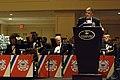 US Navy 081205-N-9818V-102 Master Chief Petty Officer of the Navy (MCPON) Joe R. Campa Jr. delivers his keynote address at the 2008 U.S. Coast Guard Holiday Ball at the Renaissance Hotel.jpg