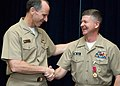 US Navy 081215-N-6611F-032 Adm. Jonathan W. Greenert, commander of U.S. Fleet Forces Command congratulates newly appointed Master Chief Petty Officer of the Navy (MCPON) Rick D. West.jpg