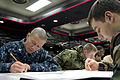 US Navy 100311-N-9123L-001 Sailors participate in the Navy-wide petty officer 2nd class advancement exam at Club Alliance at Fleet Activities Yokosuka.jpg