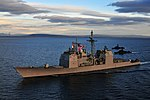 US Navy 100315-N-9983H-379 The guided-missile cruiser USS Bunker Hill (CG 52) transits the Strait of Magellan on her way to the Pacific Ocean.jpg