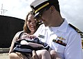 US Navy 110622-N-UK333-068 Lt. Paul Galatro meets his daughter for the first time as USS Pasadena (SSN 752) returns to Joint Base Pearl Harbor-Hick.jpg