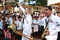 US Navy 111026-N-MA031-269 The U.S. 7th Fleet Band, Orient Express Brass Quintet, performs at Bun Rany Hun Sen High School.jpg