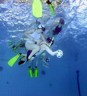 Underwater sports - Image: UW rugby match 1