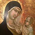 Ugolino di Nerio (workshop) - Madonna col Bambino (detail).JPG