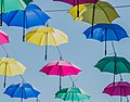 Umbrellas at rue Chazerat in Aurillac 02.jpg